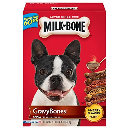 Milk-Bone GravyBones Dog Treats for Small Dogs (Small Sized Dogs, 60 Ounce - 2 Pack)