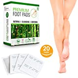 Premium Foot Pads | 100% Natural & Organic Ingredients | Best Fatigue & Stress Relief | Improve Sleep & Remove Impurities | 20 Body Cleansing Bamboo Vinegar Foot Patches