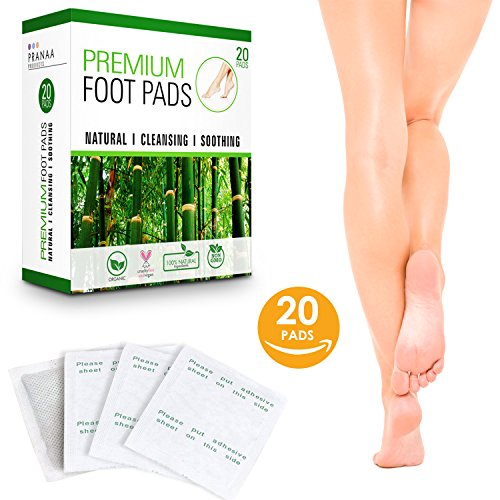 Premium Foot Pads | 100% Natural & Organic Ingredients | Best Fatigue & Stress Relief | Improve Sleep & Remove Impurities | 20 Body Cleansing Bamboo Vinegar Foot Patches | Cruelty Free & Vegan