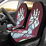 walking dead car seat covers - INTERESTPRINT Car Seat Cover Protector Cushion Zombie Walking Dead Comfortable Wear Resistant Universal Automobile Seat Covers