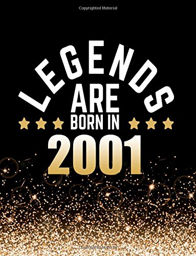 Download Legends Are Born In 2001: Birthday Notebook/Journal For Writing 100 Lined Pages, Year 2001 Birthday Gift, Keepsake Book (Gold & Black) pdf