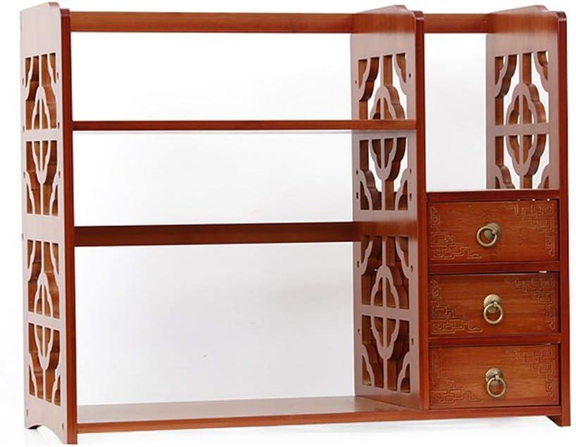 SJ-DDUAN Desktop Bookshelf Storage Shelf Simple Organizer Table Creative Student Multi-Function Small Bookshelf