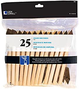 Loew Cornell 842 25-Piece Foam Brush Set, 1-Inch