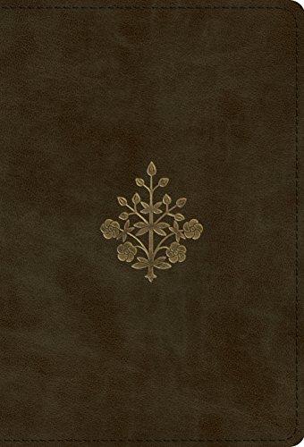 ESV Large Print Compact Bible (TruTone, Olive, Branch Design)