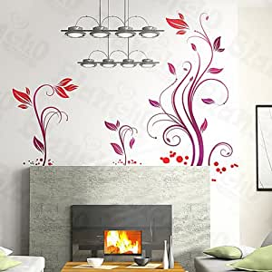 Rattan Wall Decals Stickers Appliques Home Decor Kitchen