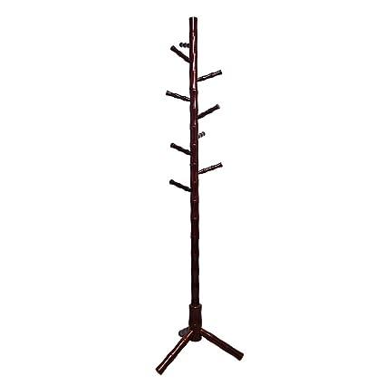 Amazon.com: Sunshine madera maciza perchero soporte de pie ...
