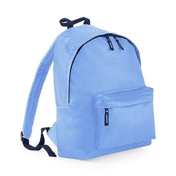 Plain 2 Pocket Backpack Rucksack School Bag Choose Your Colour NEW