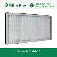 Idylis Air Purifier Filter C. Idylis IAF-H-100C. Designed by FilterBuy to fit Idylis IAP-10-200 & IAP-10-280.