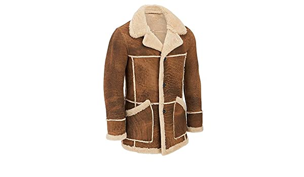 89d6ce23be Wilsons Leather Mens Marlboro Shearling Leather Jacket XL Tan Combo   Amazon.ca  Clothing   Accessories