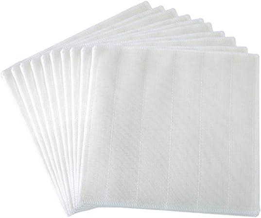 HapHomeSHOP Trapo Paño de Tela Grueso Hilo de algodón Paño de Cocina Absorbente Manchas de Agua Paño de Limpieza Paño del Cepillo 10 Tiras fijadas Casa, Cocina (Color : White): Amazon.es: Hogar