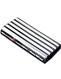 Corrugated Durable Stainless Steel Cigarette Case Exquisite Cig Holder Box