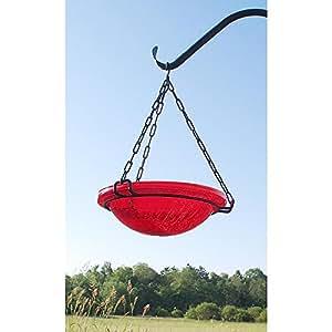 Achla Designs Red Crackle Hanging Birdbath