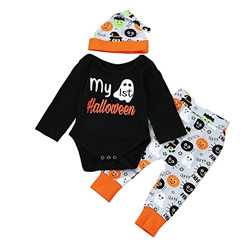 Christmas 3Pcs Set Cute Newborn Infant Baby Boy Girl Clothes Romper Tops +Long Pants Outfit for $<!--$8.48-->