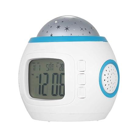 KUAIDCD Reloj Despertador LED Iluminación Colorida Reloj ...