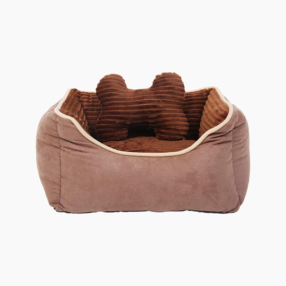 75×62×25cm Orthopedic Pet Bed  for All Breeds Dogs and Cats, with Zipper Removable and Washable, Brown (Size   75×62×25cm)