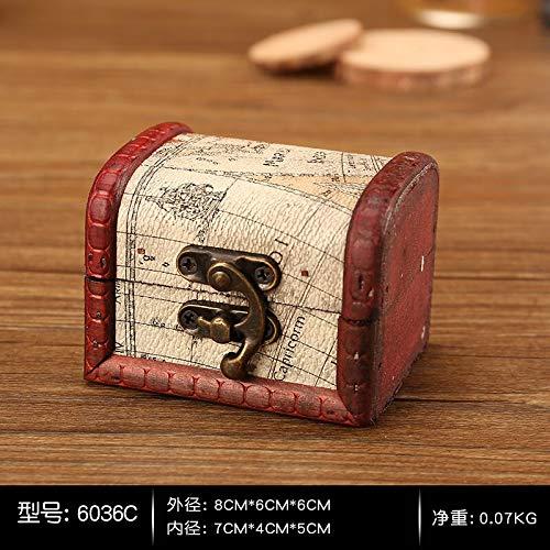 Kiartten Storage Box - Wood Handmade Lock Storage Boxes Storage Organizer Jewelry Earring Necklace Bracelet Pearl Case Gift Retro Chinese Trinket Box 1 Pcs