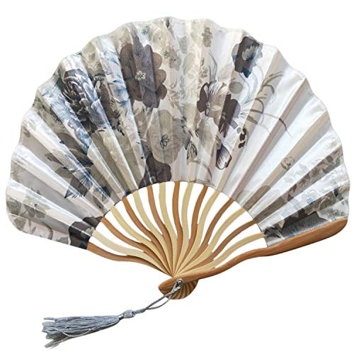 SUMMER STORE Chinese Style Hand Held Fan Bamboo Paper Folding Fan Party Wedding Decor,K (Folding 50cc Scooter)