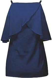 Vests Home Correa de Espagueti Ideal para Mujer Volante frío Volantes Camis Tank (Color : Navy Blue, Size : Small)