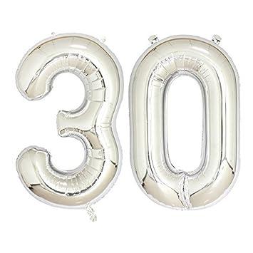 Amazon.com: Balonar - Globos de aluminio plateados, 15.7 in ...