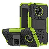 Moto X4 Case,Mustaner Dual Layer Shock-Absorption Armor Cover Full-body Protective Case with Kickst