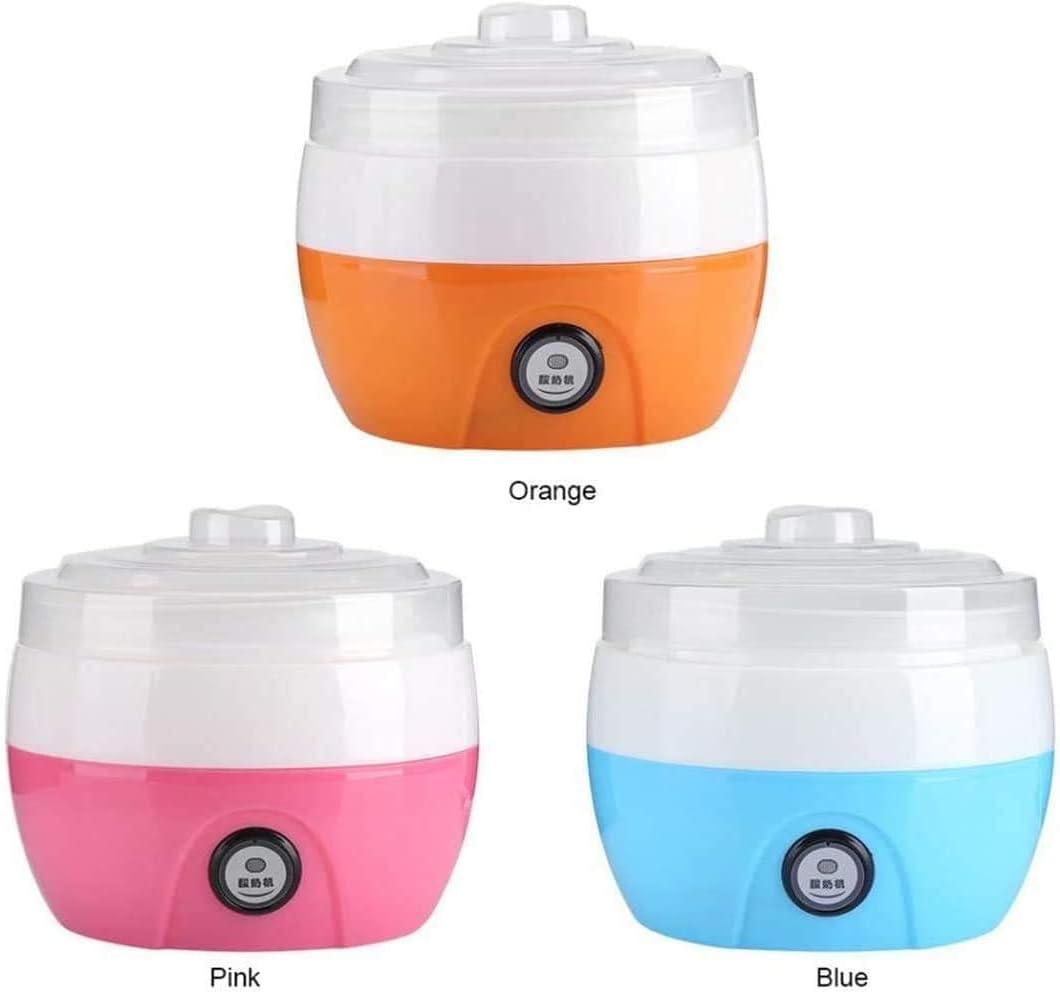 YZHM Macchinari Yogurt, Produttore di Macchine di barattoli di Vetro automaticamente Yogurt Greco Personalizzare Il Gusto e la Forza (Blu),Blu Arancia