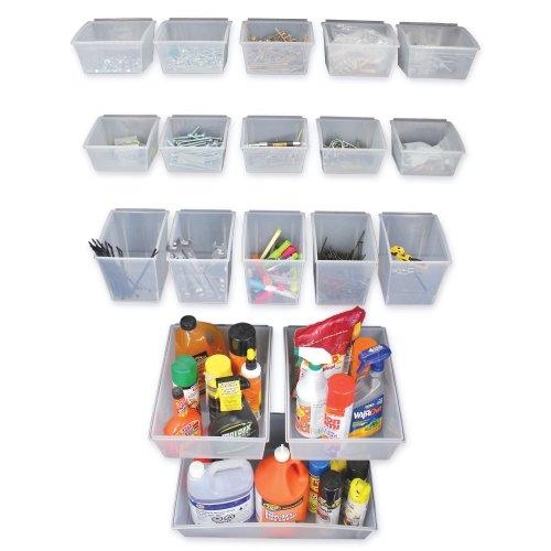 (Proslat 03250 Probin Storage Bin Kit Designed for PVC Slatwall, 18-Piece)