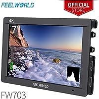 FEELWORLD FW703 7 Inch IPS 3G SDI 4K HDMI DSLR Monitor...