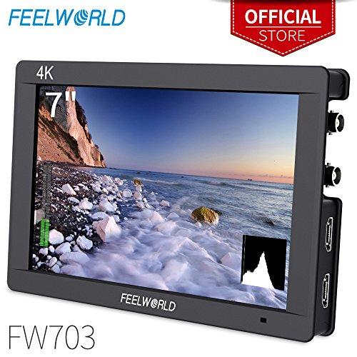 - FEELWORLD FW703 7 Inch IPS 3G SDI 4K HDMI DSLR Monitor Full HD 1920x1200 On Camera Field Monitor with Histogram for Stabilizer Cameras Rig