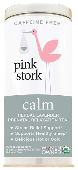 Amazon.com: Pink Stork Calm: té relajante de lavanda a base ...