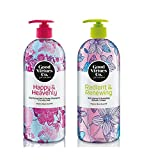Good Virtues Co. Clarifying Shampoo for Oily Hair (23.7 oz) and Radiant & Renewing Anti-aging Shower Cream for All Skin Type (23.7 oz)