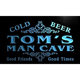 x0154-tm Tom's Man Cave Beer Ale Bar Custom ...