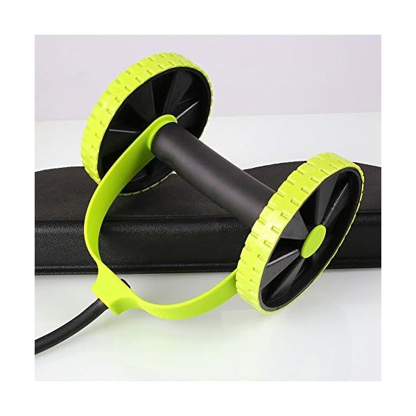 Machine double-roues Beautyrain avec élastiques pour abdominaux, tractions, corde ventre minceur gymnastique, exercices…