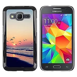 Smartphone Rígido Protección única Imagen Carcasa Funda Tapa Skin Case Para Samsung Galaxy Core Prime SM-G360 Sunset Sea Beautiful Nature 23 / STRONG
