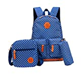 Lilimay Polka Dot 3pcs Kids Bag School Backpack Handbag Water Repellent Girls