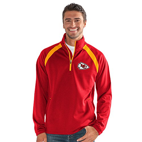 G-III Sports NFL Kansas City Chiefs High Impact Half Zip Pullover, 5X, Red