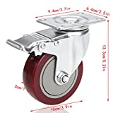 4'' Heavy Duty Swivel Caster Wheels with 360