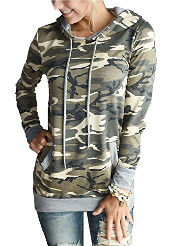 Camouflage Pullover Hooded Sweatshirt - 9