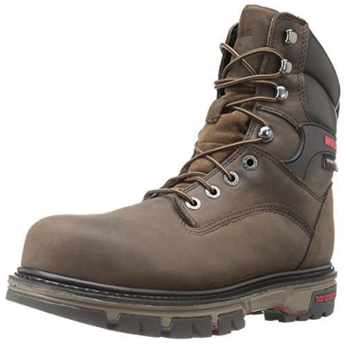 Shoe Comp 8 inch Wolverine Waterproof Nation Dark Brown Men's Work Toe Insulated fFxZwzHY