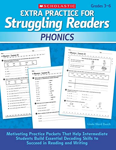 Extra Practice for Struggling Readers: Phonics: Motivating Practice Packets That Help Intermediate Students Build Essential Decoding Skills to Succeed in Reading and - Blends Vowel Short