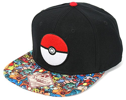 Pokemon- Pokeball Sublimated Snapback Hat Size ONE SIZE Photo