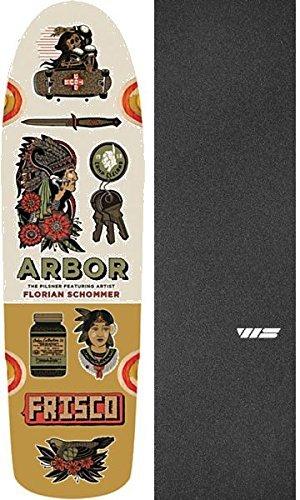 押し下げる異常裂け目ArborスケートボードアーティストコレクションPilsnerクルーザースケートボードDeck – 8.25