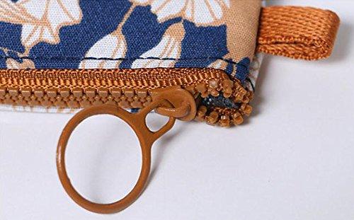 main de bleu Porte de fleur Da foncé Porte à l'eau à imperméable Forme Sac monnaie serviette hygiénique monnaie Porte Petit sac Wa monnaie H1xCqaP