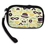Hand-held Belt Zipper Small Wallet Funny Mask And Hat Purse Porte-monnaie Cards Holder Wallet Purse