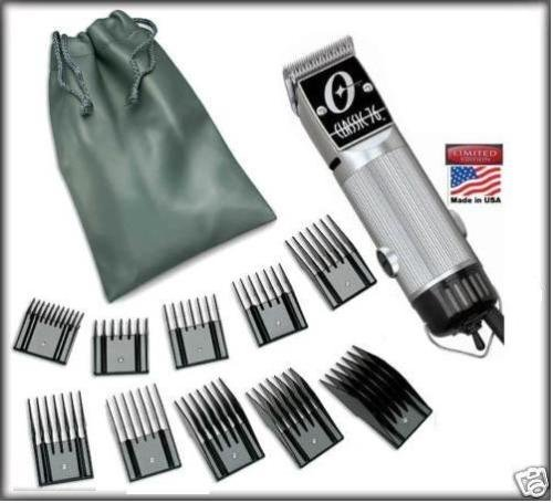 Combo New Oster Classic 76 Limited Edition Hair clipper SILVER made in usa very hard to find model Free 10 piece universal oster comb set