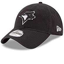 Toronto Blue Jays Core Classic Twill Black 9TWENTY Adjustable Hat - Size One Size