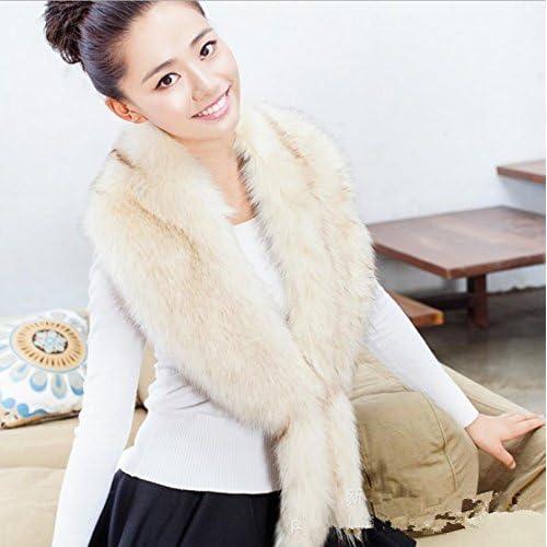 Damas invierno oto?o caliente engrosamiento bufanda grande piel suave Collar , 8