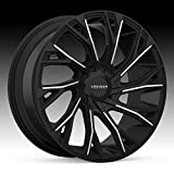 Cruiser Alloy 925MB Cutter 22x9.5 5x115/5x139.7 +15mm Black/Machined Wheel Rim