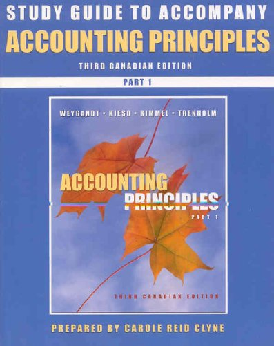 Accounting Principles, Parts 1 and 2, Study Guide (Pt. 1)