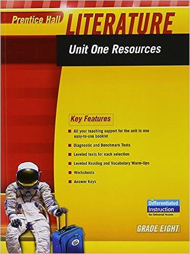 Workbook differentiated instruction worksheets : Amazon.com: PRENTICE HALL LITERATURE 2010 UNIT 1 RESOURCE GRADE 8 ...