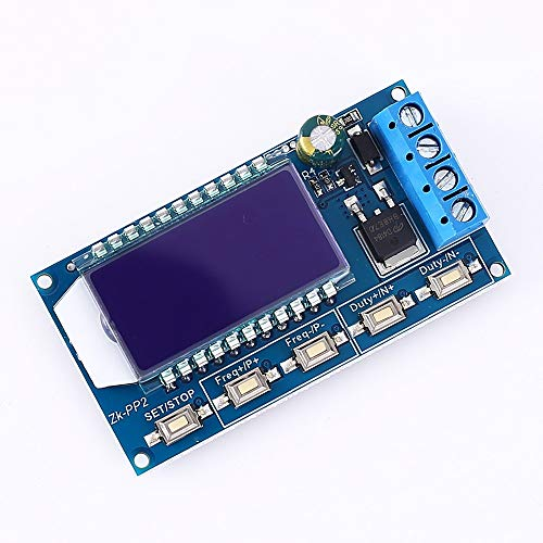 PEMENOL Signal Generator 8A Driver Module for Motor/Lamp 1-Channel 1Hz-150KHz Dual Mode LCD PWM Pulse Frequency Duty Cycle Adjustable Module